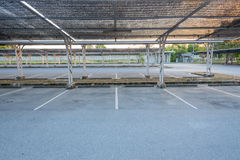 Leerer Parkplatz Stockfoto