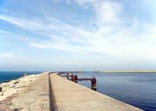 Leerer Pier. Stockfoto