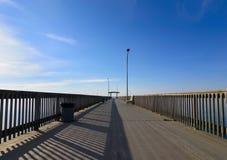 Leerer Pier lizenzfreies stockbild