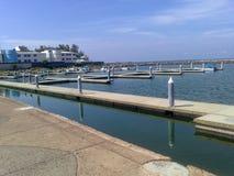 Leerer Pier stockbild