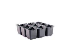 Leerer Plastiksämlingsbehälter Stockfotos