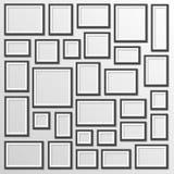 Leerer Rahmen auf einem weißen Hintergrund Stockfotos
