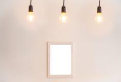 Leerer Rahmen auf einem weißen Hintergrund Lizenzfreies Stockbild