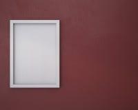 Leerer Rahmen auf marsala Wand Stockfotos