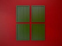 Leerer Rahmen auf roter und grüner Weihnachtstonfarbe der Innenwand Lizenzfreie Stockbilder