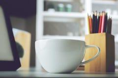Leerer Rahmen und Kaffee Lizenzfreie Stockbilder