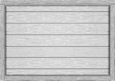 Leerer Rahmen von hölzernen weißen Brettern lizenzfreie abbildung