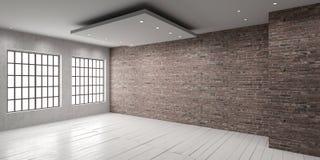 Leerer Raum in der Dachbodenart vektor abbildung