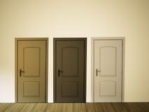 Leerer Raum der Wand und der Tür lizenzfreie abbildung
