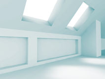 Leerer Raum-Design-Architektur-Hintergrund Stockfotografie