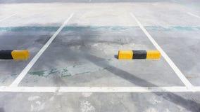 Leerer Raum in einem Parkplatz Lizenzfreie Stockbilder