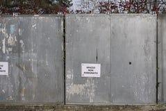 Leerer Raum für Wahlanschlagtafeln lizenzfreies stockfoto
