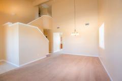 Leerer Raum-Innenraum - Wohnzimmer Stockfoto