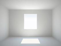 Leerer Raum mit Fenster Lizenzfreies Stockbild