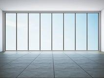 Leerer Raum mit Fenster lizenzfreie abbildung