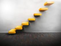 Leerer Raum mit steigender Treppe Stockbild