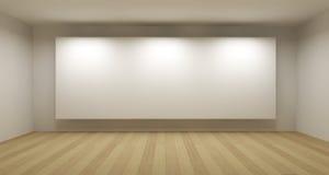 Leerer Raum mit weißem Feld Lizenzfreie Stockfotografie
