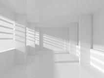 Leerer Raum mit Windows Lizenzfreies Stockbild