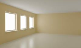 Leerer Raum, sauberes Büro oder Wohninnenraum stock abbildung