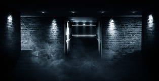"""Leerer Raum, Treppe oben, Aufzug, Rauch, Smog, Neonlichter, Laternen Ð¯Ð·Ñ ‹Ðº кГ ÑŽÑ-‡ Ð?Ð ² Ñ ‹Ñ… Ñ  Ð"""" Ð-¾ Ð ²: Englisch stockfotografie"""