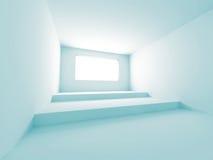 Leerer Raum-weißer Art-Innenraum-Hintergrund Stockfotos