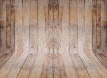 Leerer Rauminnenraum mit hölzerner Wand und Boden Lizenzfreies Stockbild