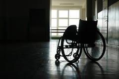 Leerer Rollstuhl Lizenzfreies Stockfoto