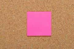Leerer rosa Aufkleber Stockbild