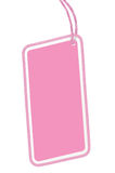 Leerer rosa lokalisierter Makronahaufnahme-vertikaler Kopien-Raum Pappverkaufs-Tag-leerer Preisschild Pricetag Ausweis Stockfotografie