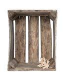 Leerer rustikaler Rahmen mit Blatt Lizenzfreies Stockbild