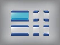 Leerer Schaukasten, Glaskasten, Glaskasten, Aquarium, Aquarium Lizenzfreies Stockfoto