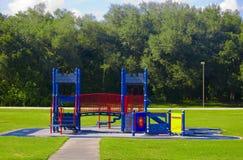 Leerer Schloss-Spielplatz Stockfoto