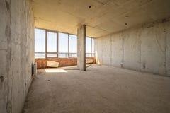 Leerer schmutziger Raum stockbild