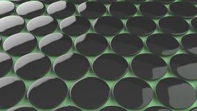 Leerer schwarzer Ausweis auf grünem Hintergrund Lizenzfreie Stockfotografie