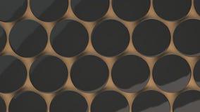 Leerer schwarzer Ausweis auf orange Hintergrund Lizenzfreie Stockbilder