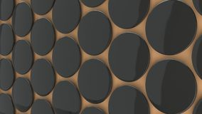 Leerer schwarzer Ausweis auf orange Hintergrund Stockfotografie