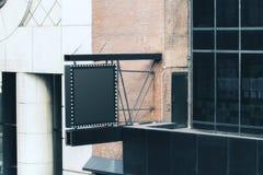 Leerer schwarzer quadratischer Stopper lizenzfreies stockfoto