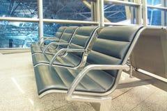 Leerer Sitz im Flughafen Lizenzfreie Stockfotografie