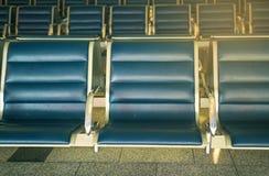 Leerer Sitz im Flughafen Stockfotos