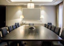 Leerer Sitzungssaal Stockfotografie