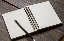 Leerer Sketchpad Lizenzfreie Stockfotografie