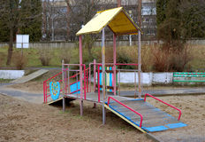 Leerer Spielplatz Stockfotos