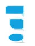 Leerer Spracheblasensatz stock abbildung