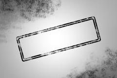 Leerer Stempel mit schwarzem Rahmen Lizenzfreies Stockfoto