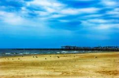 Leerer Strand stockbilder