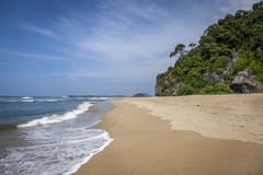 Leerer Strand in Aceh, Indonesien Stockfoto