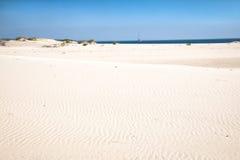 Leerer Strand auf der Bazaruto-Insel Stockbilder