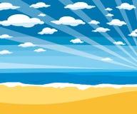 Leerer Strandparadiesvektor stockfotos