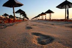 Leerer Strandsand Stockfotografie