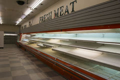 Leerer Supermarkt 4 Stockfoto